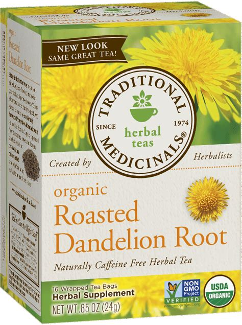 Detox Water With Dandelion Root Tea by Roasted Dandelion Root Traditional Medicinals