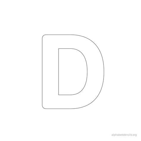 printable letter d stencil alphabet bold driverlayer search engine