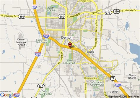 map of denton texas map of hton inn suites denton tx denton