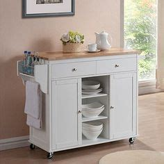 Meryland White Modern Kitchen Island Cart Real Simple 174 Rolling Kitchen Island In White 300 Bed Bath Beyond Things I Would Like To