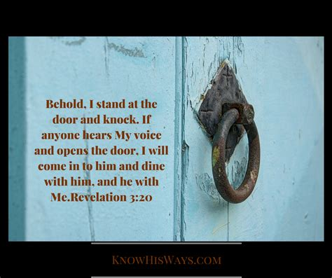he ll come knocking at your door books intimacy with god part ii 171 his ways