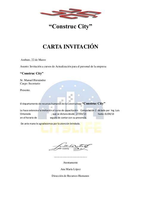 capacitacion para invitacion carta invitaci 243 1