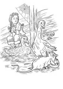 coloring page of templeton the rat charlotte fern gooses templeton and wilbur coloring