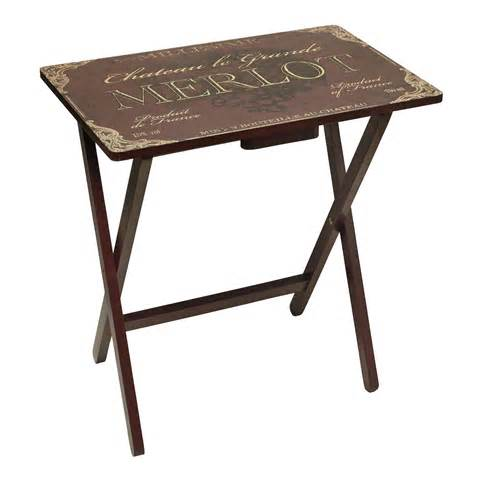 merlot themed wooden tv tray christmas tree shops andthat