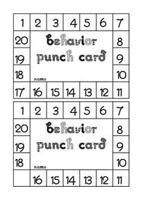 free punch card templates classroom freebies behavior punch card
