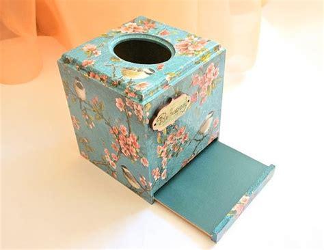 Decoupage Tissue Box Cover - tissue box cover napkin box decoupage napkin by decoriashop