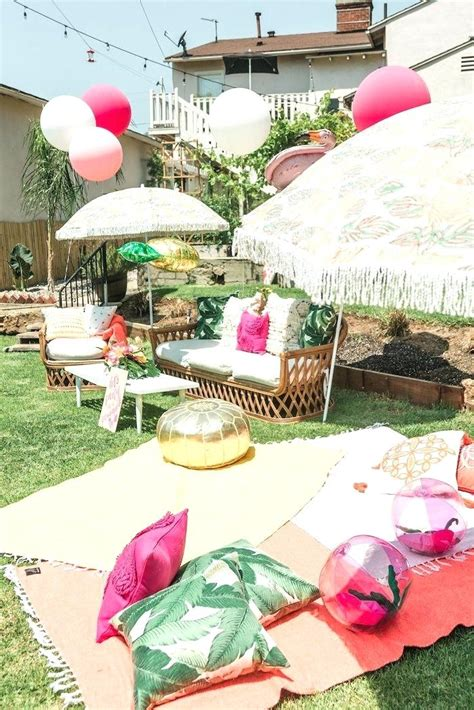 backyard party supply backyard party supplies outdoor movie night birthday party via party ideas