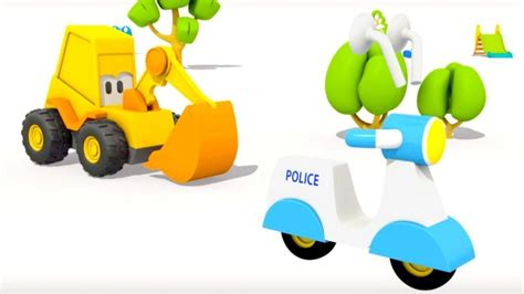Polizeimotorrad F R Kinder by Animation F 252 R Kinder Max Der Bagger Baut Das