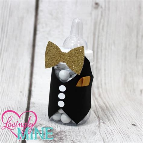 Bow Tie Baby Shower Centerpieces by Bow Tie Baby Shower Baby Bottles Favors In The