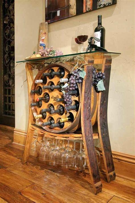 wine barrel bar table    diy furniture