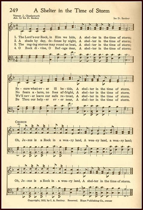 printable lyrics gospel songs a shelter from the storm hymn free printable from little