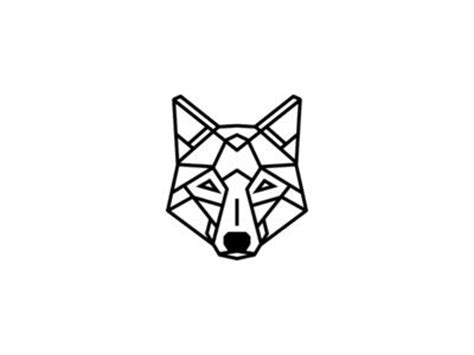geometric tattoo simple geometric wolf tattoo design