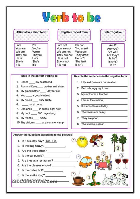 printable worksheets verb to be esl worksheets for verb to be nouns worksheet esl and