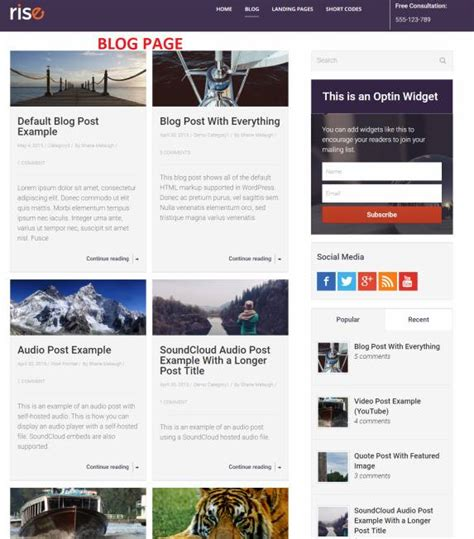 thrive themes gallery thrive themes rise review blog theme worth