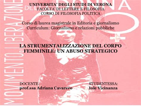strumentalizzazione corpo femminile un abuso strategico