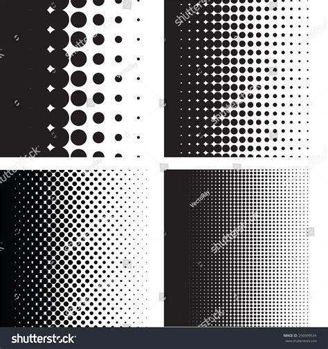 dot pattern gradient ai halftone dots pattern gradient set in vector format