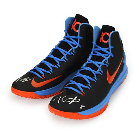 kevin durant shoes kevin durant autographed zoom v black orange shoes