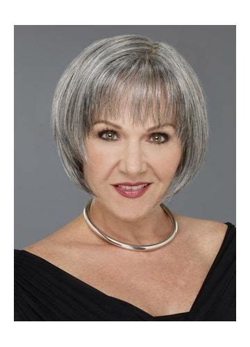 Hairstyles For Grey Hair Uk | grey bob for old women short bob wigs for white women