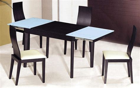 contemporary dining table sets extendable wooden with glass top modern dining table sets