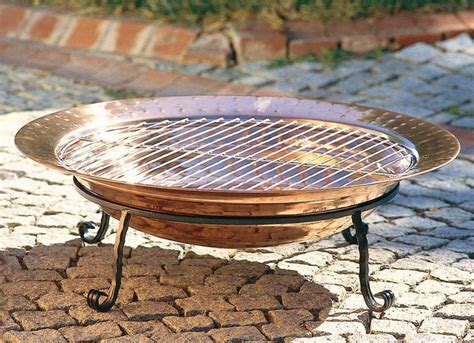 copper firepits copper pit with grill copper pits
