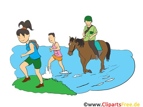comic clipart wandern clipart bild comic illustration