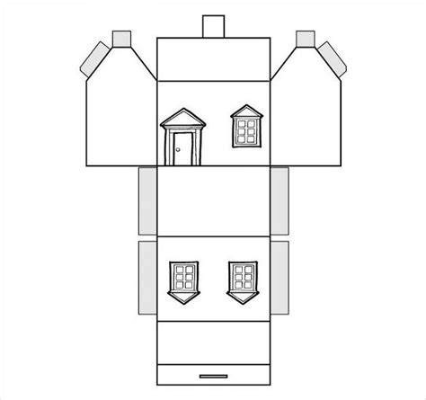 printable house cut out paper house template 19 free pdf documents download