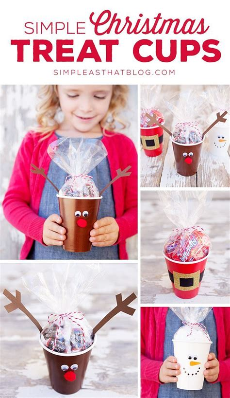 simple craft for christamas celebrationo simple treat cups classroom treats simple and favors