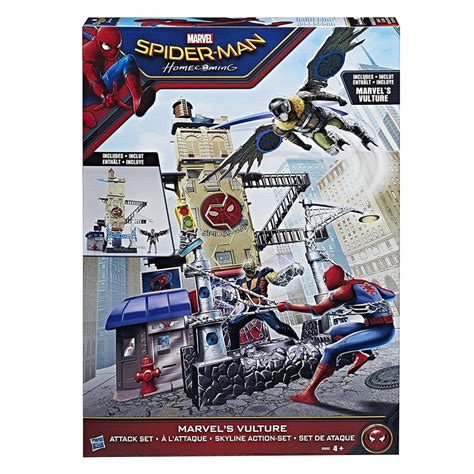 Wheels Spider Homecoming Marvel vulture attack set from wwsm
