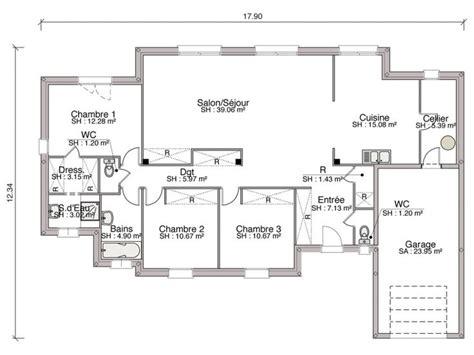 plan de chambre 25 best plain pied ideas on plan maison plein