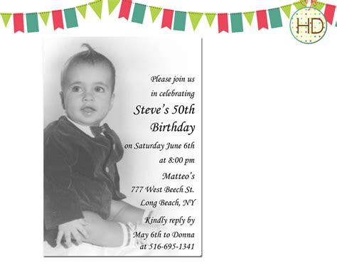 invitation sles for 50th birthday the 50th birthday invitation template free templates egreeting ecards