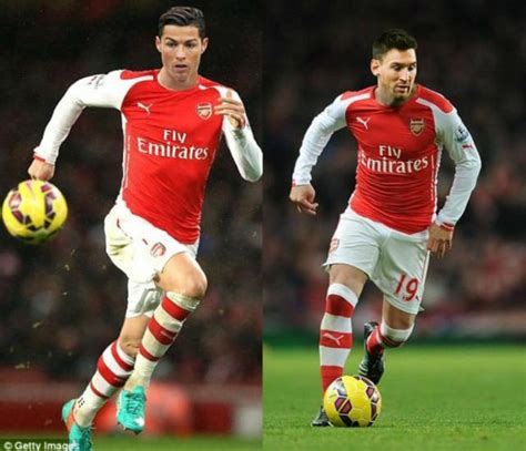 arsenal ronaldo 7 cr7 mejor del mundo y messi juntos arsenal inglaterra
