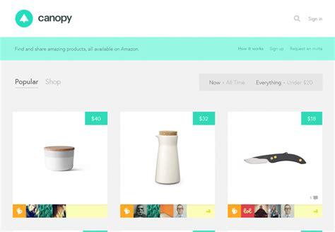 design inspiration web ecommerce canopy flat amazon ecommerce website flat design
