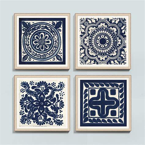 Ballard Designs Return Policy blue medallion tile framed print ballard designs