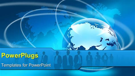Global Powerpoint Template powerpoint template 3d global business network with world