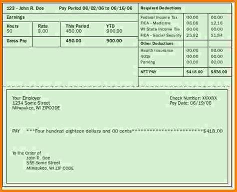 paycheck template fillable employee pay stub pay stub template autos post