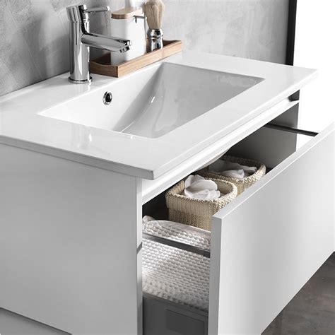 mobile bagno 70 mobile bagno sospeso 70cm lavabo in ceramica tabacco