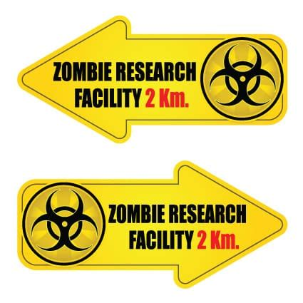 Auto Sticker Zombie by Zombie Stickers 29 Stickythings Nl