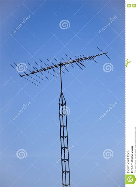 analog television antenna and tower royalty free stock photos image 16052428