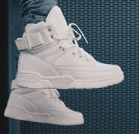 ewing shoes for the ewing june collection featuring a silver 33 hi and
