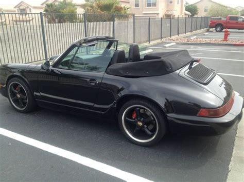 porsche 911 convertible black sell used porsche 911 convertible 964 black black black