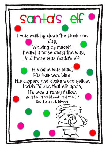 christmas and new year poems for kindergarten the busy kindergarten three poems for