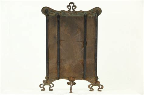 Copper Fireplace Screen Nouveau Or Arts Crafts 1900 Antique Copper Fireplace