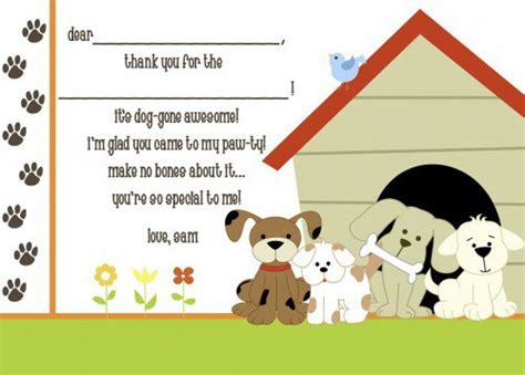 birthday card template dogs invitations
