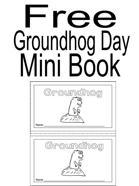 groundhog day novel simply centers free groundhog day mini book