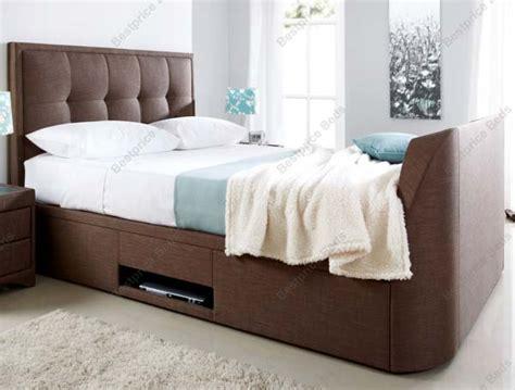 Tv Storage Bed Frame Kaydian Windermere Tv Bed Frame With Storage At Bestpricebeds Co Uk