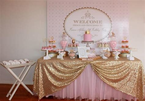 princess theme baby shower decoration ideas pink gold royal princess planning ideas supplies