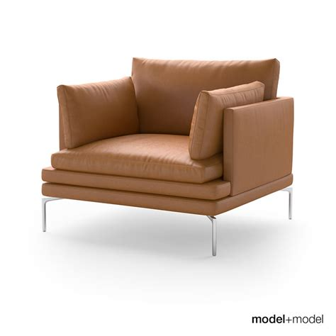 zanotta sofa zanotta william sofas 3d model max obj fbx mat cgtrader
