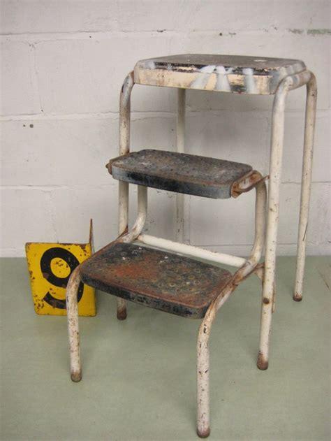 vintage kitchen stools with steps vintage kitchen stool cosco step stool folding step