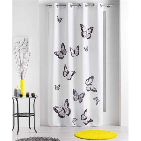 Rideaux Papillons by Rideau Papillons Blanc 140x240cm