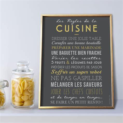 affiches cuisine quot les r 232 gles de la cuisine quot sur papier peint adh 233 sif